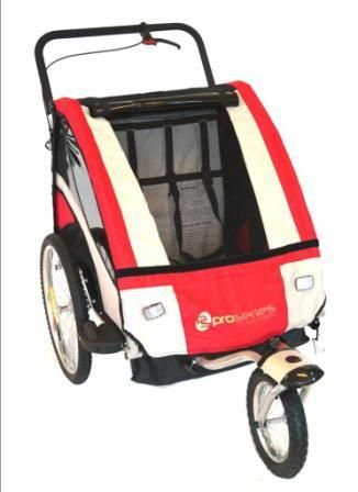 GROHL BPW Bicycle Trailer/Jogger RED, Steel Frame