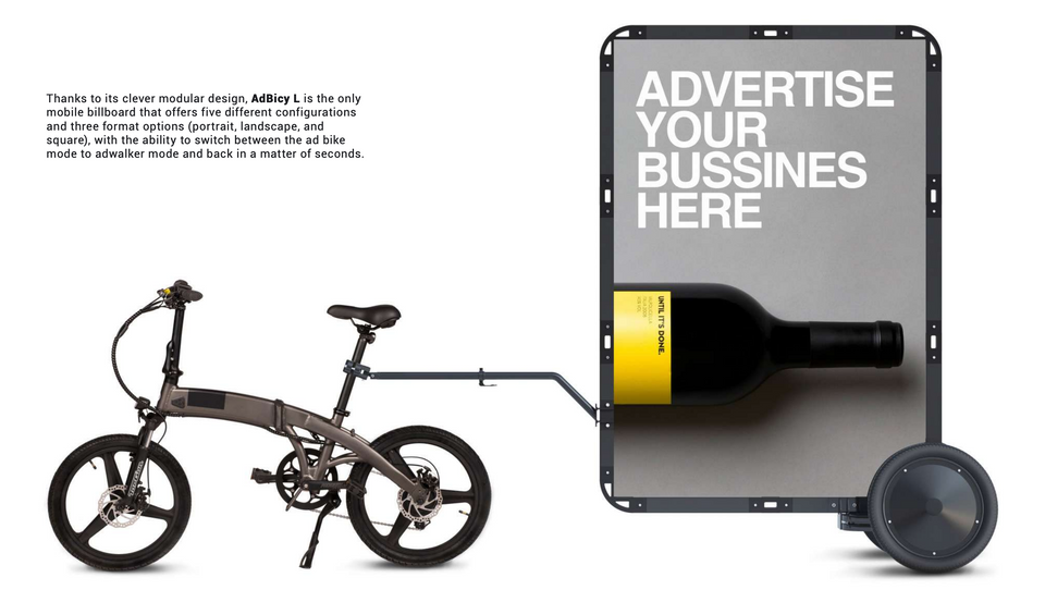 AdBicy Electric Bike Advertising Billboard Business Opportunities