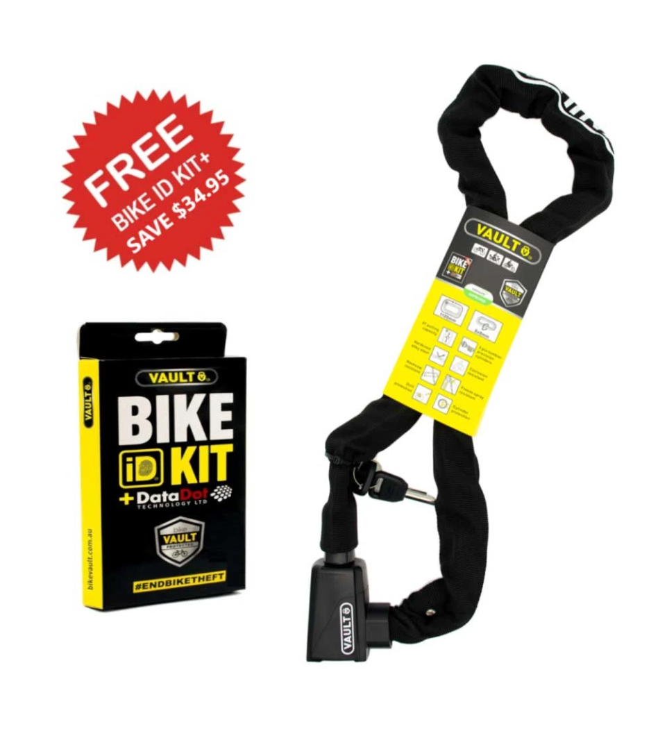 VAULT Chain Lock + Bike ID kit+