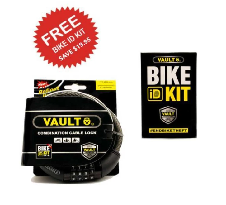 VAULT Combination Cable Lock + Bike ID Kit