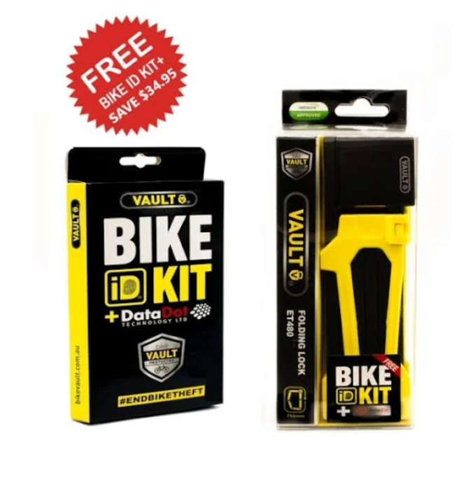 Vault Folding Lock + Bike ID Kit+