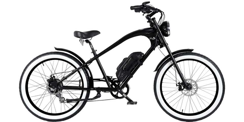 Vacay Electric E-Bike (500W) Black with Black Wheels