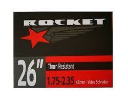 Rocket Bicycle Inner Tube - Thorn Resistant 26 x 1.75 - 2.35