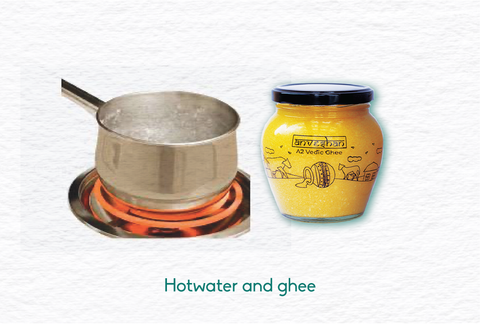 ghee with hot water