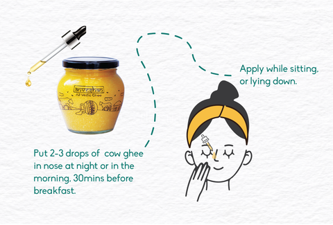 how to use ghee in nose