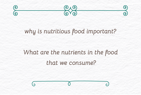 why is nutritious food important