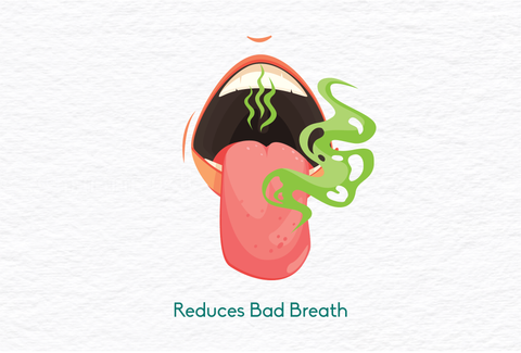 oil pulling reduces bad breath