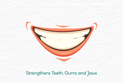 oil pulling strengthens teeth, gums and jaws