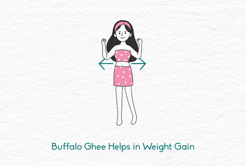 Buffalo Ghee helps in weight gain