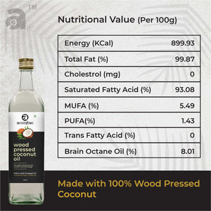 Combo of Wood Pressed Coconut and Groundnut Oil 2L Each - Anveshan Farm