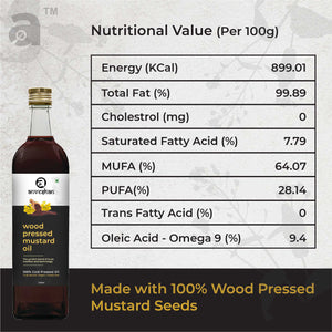Combo of Wood Pressed Black Mustard and Groundnut Oil 2L Each - Anveshan Farm