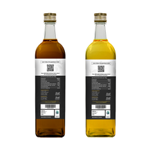 Load image into Gallery viewer, Combo of Wood Pressed Black Sesame and Groundnut Oil 1L Each - Anveshan Farm