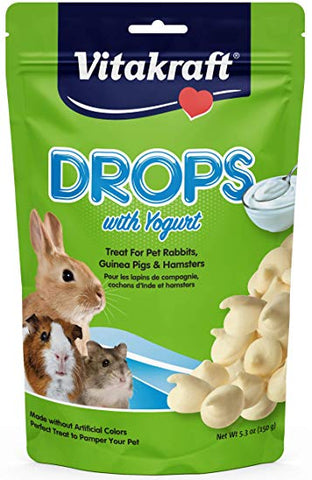 Vitakraft Drops With Yogurt Treat For Pet Rabbits, Guinea Pigs, And Hamsters