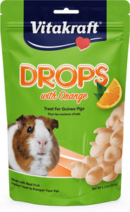 Vitakraft Drops With Orange Treat For Guinea Pigs