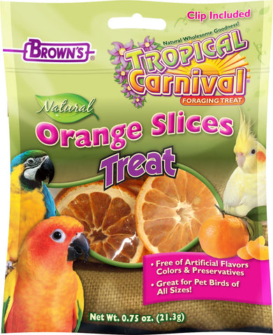 Tropical Carnival Orange Slices Treats For Birds Of All Sizes