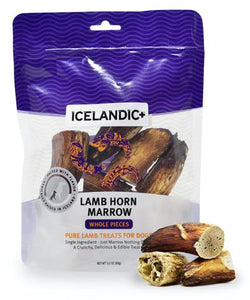 Icelandic+ Lamb Horn Marrow Whole Pieces Dog Treat 4.5-oz Bag