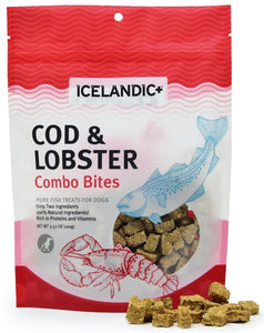 Icelandic+ Cod & Lobster Combo Bites Fish Dog Treat 3.52-oz Bag