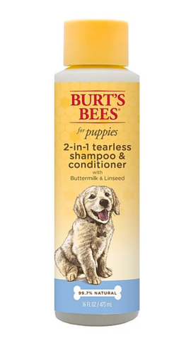Burt's Bees 2 In 1 Tearless Puppy Shampoo & Conditioner With Buttermilk & Linseed