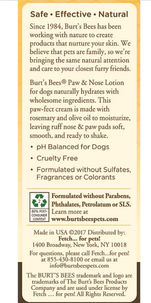 Burt's Bees Paw & Nose Lotion With Rosemary & Olive Oil