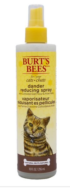 Burt's Bees Dander Reducing Spray For Cats With Colloidal Oat Flour & Aloe Vera
