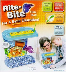 Rite-Bite Betta Education 1.13 Gallon Fish Tank