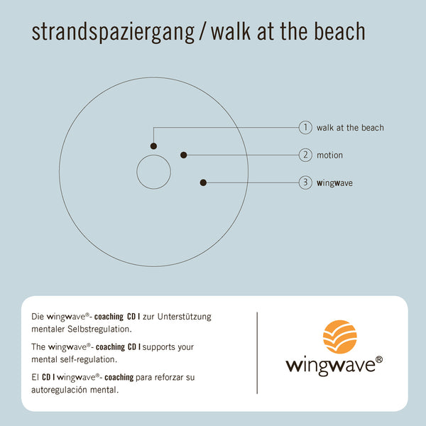 "Album musicale wingwave 1 ""strandspaziergang - walk at the beach"" - raccolta"