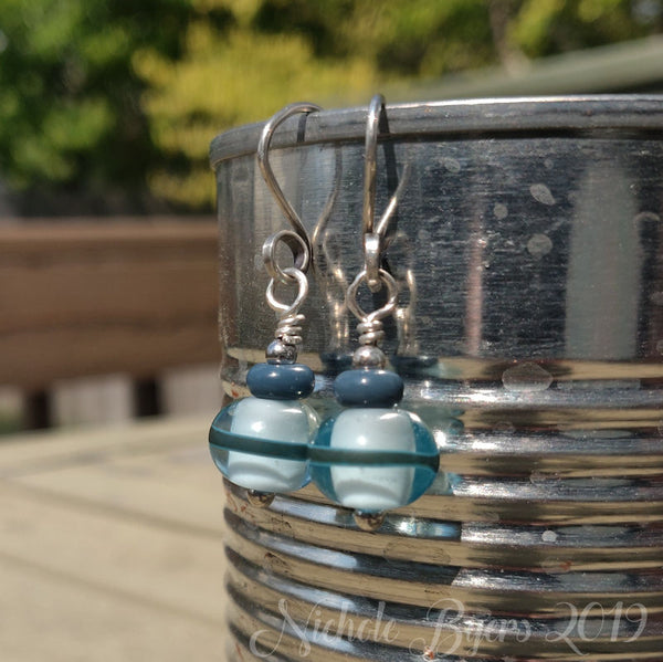 Beach Party - Pale Aquamarine Dangle Earrings