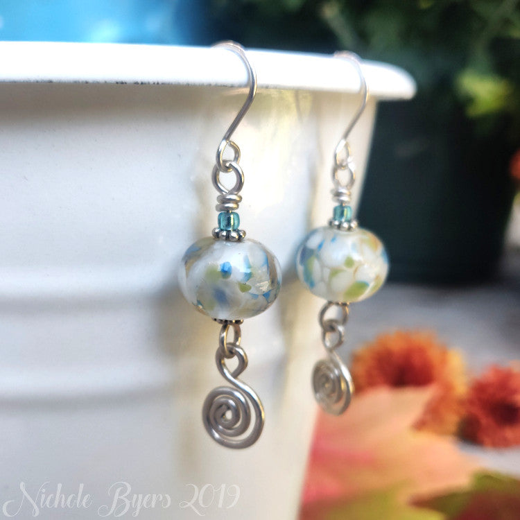 Meadow Lampwork Earrings