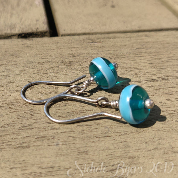 Pool Party - Light Teal Dangle Earrings