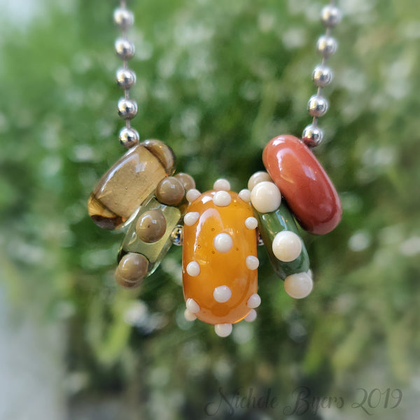 Harvest Big Hole Beads (Set of 5)
