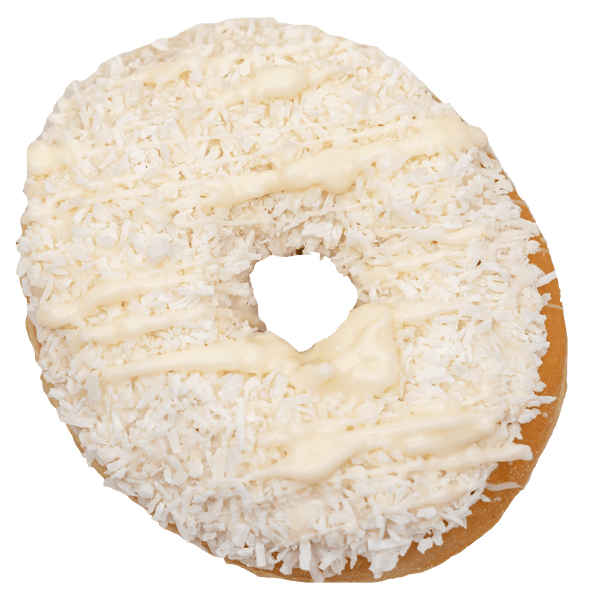 Ungefüllte Royal Donuts Coco White