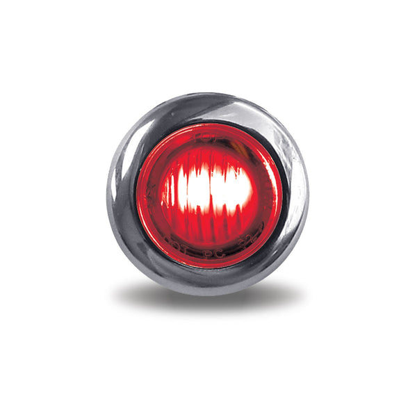TRUX RED MINI BUTTON 3/4 ROUND LED (2 WIRES)