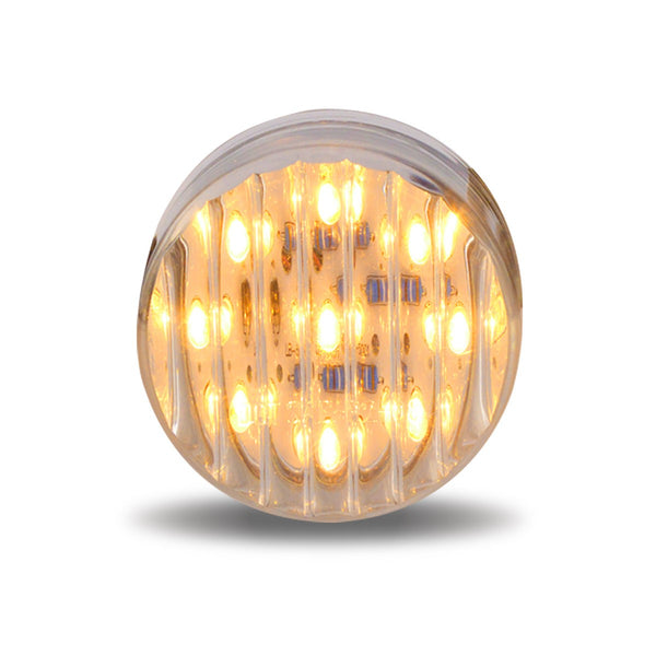 "TRUX 2 1/2"" ROUND RIBBED LED LIGHT- 13 DIODES"