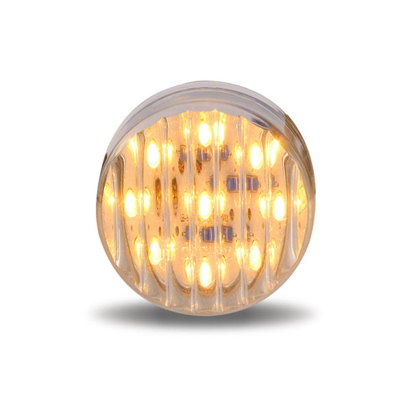"TRUX 2"" CLEAR RIBBED AMBER LED- 9 DIODES"