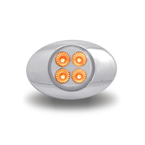 TRUX DUAL REVOLUTION SMALL OVAL AMBER AND AUXILIARY COLOR LED LIGHT