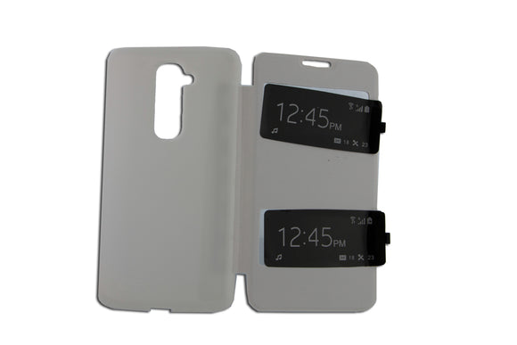 Flip Cover, LG Optimus G2, S View, Alb
