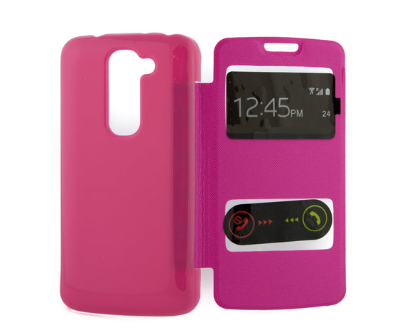 Flip Cover, LG Optimus G2 Mini, S  View, Roz