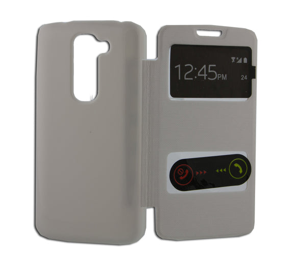 Flip Cover, LG Optimus G2 Mini, S View, Alb