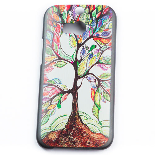 Husa HTC One M8 Hippie Tree,  Plastic, Multicolor