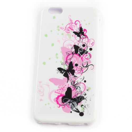 Husa Iphone 6 Plus,  Black And Pink Temptation,  Silicon, Multicolor