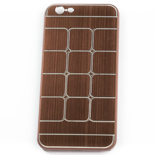 Husa Iphone 6,  Brown Square Metal Pattern