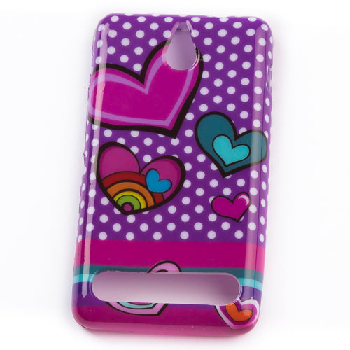 Husa Sony Xperia E1 Purple Love, Silicon, Multicolor