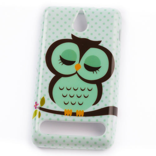 Husa Sony Xperia E1 Sleeping Owl, Silicon, MUlticolor