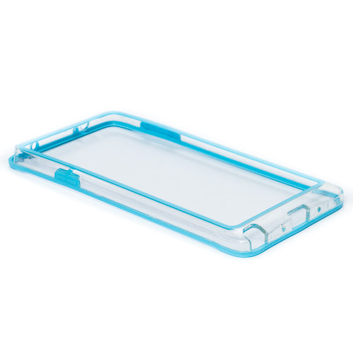 Bumper Samsung Galaxy Note 4, Bleu/Transparent, Silicon/Plastic