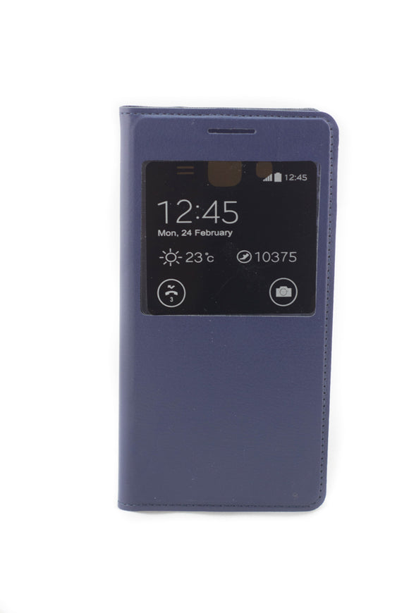 Flip cover Samsung Galaxy Grand Prime G530 ,  S View , albastru