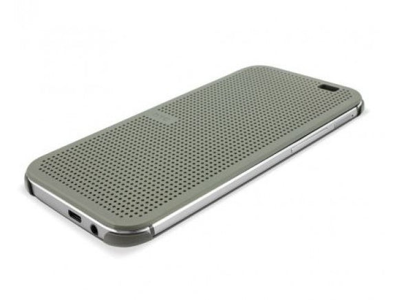 Husa HTC One M8, plastic, Dot View, gri