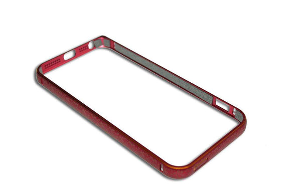 Bumper metalic , Iphone 5 , rosu,  floricele