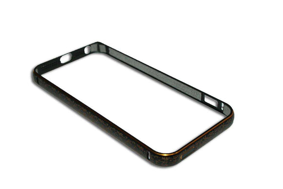 Bumper metalic , Iphone 5 , negru, floricele