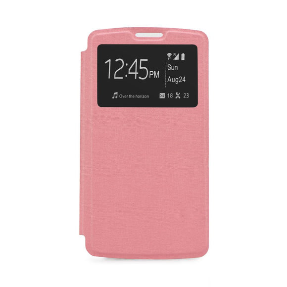Flip cover Samsung Galaxy Grand Prime G530 ,  S View , roz