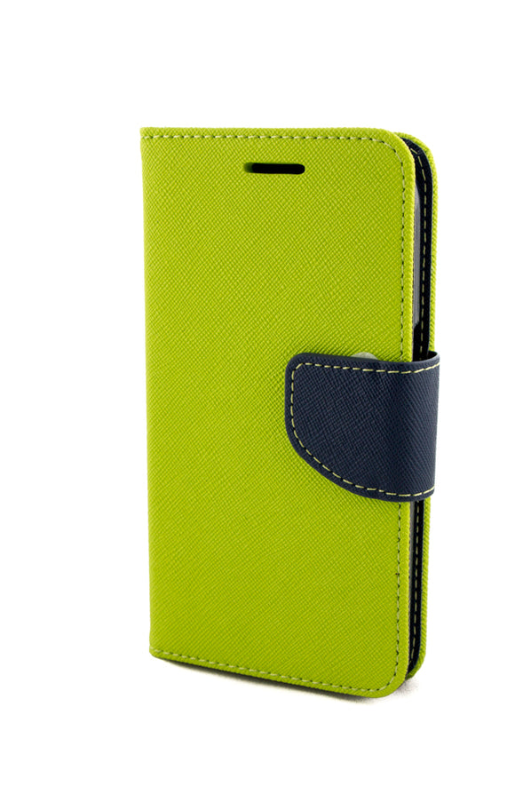 Husa Samsung Galaxy Core Prime G360, Fancy, piele eco, Lime